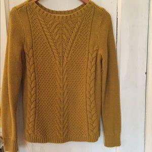 Banana Republic mustard/yellow knit sweater